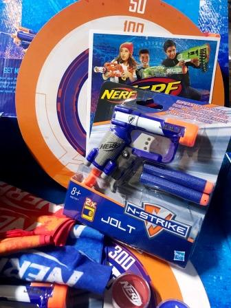 Nerf N-Strike Jolt blaster and gear