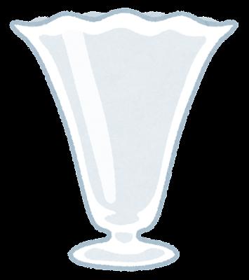 パフェのグラスのイラスト