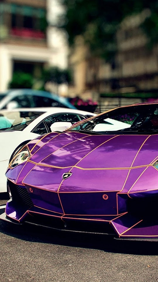 Purple Lamborghini Aventador LP 700-4   Galaxy Note HD Wallpaper