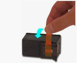 removing the cartridge label