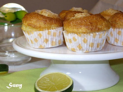 Magdalenas con aroma de limón