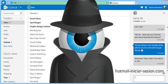 conocer a tus espías en Outlook