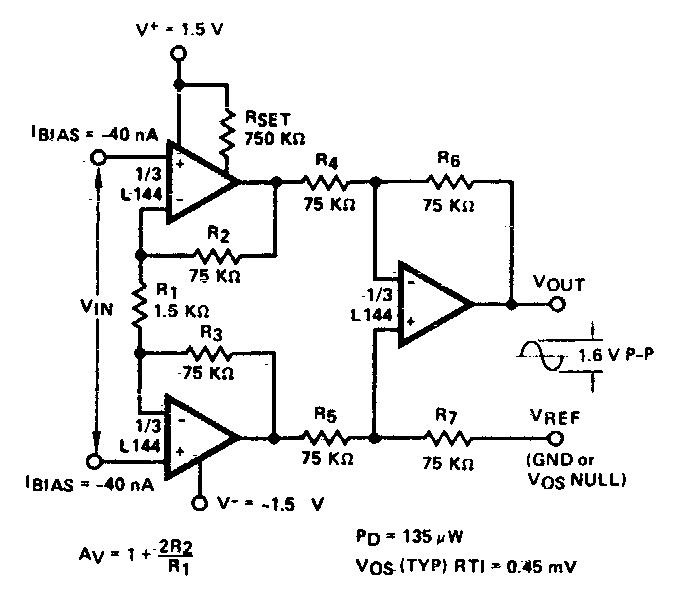 Build a Instrumentation Amplifier Circuit Diagram