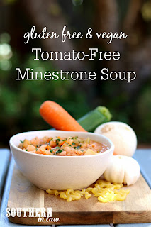 Healthy Tomato Free Minestrone Soup Recipe