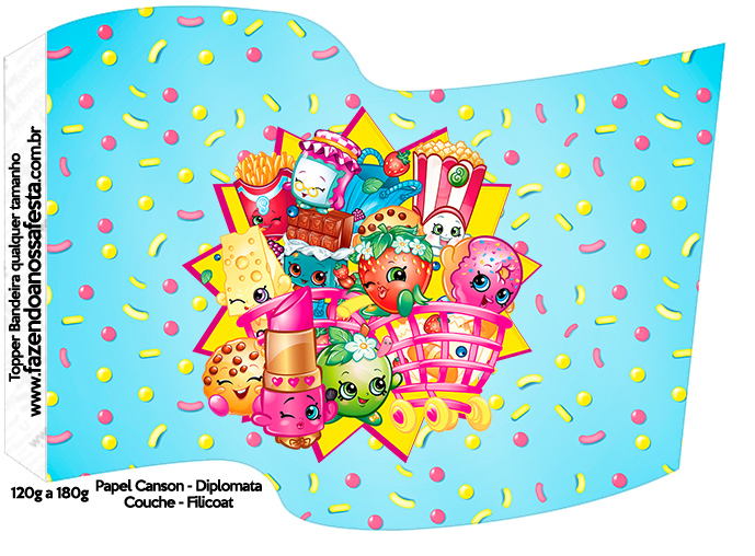 picture regarding Free Printable Shopkins Food Labels called Shopkins: Cost-free Social gathering Printables. - Oh My Fiesta! within just english