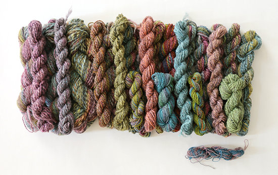 A Pound of Hand Dyed Handspun Wool Yarn in Various Colors and Weights