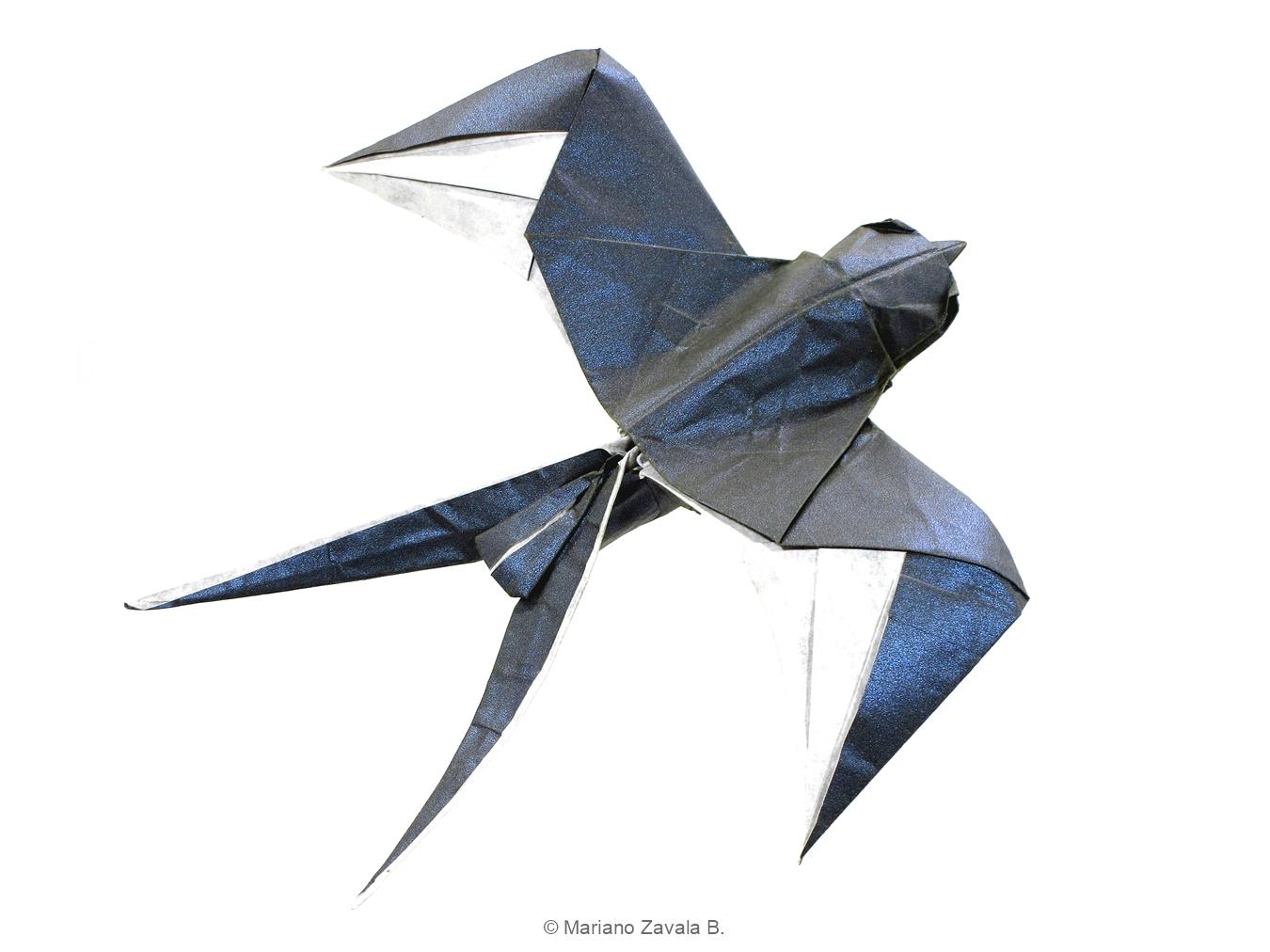 Mariano Mi Mundo El Origami Swallow Video Tutorial