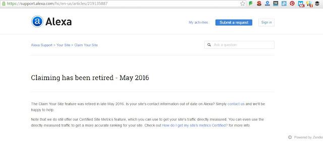 perubahan cara mendaftarkan blog di alexa