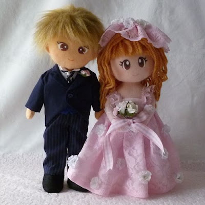 Dolls in wedding dresses