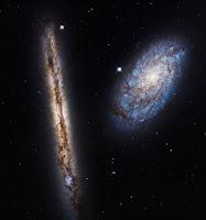 Interacting Galaxies NGC 4302 • NGC 4298
