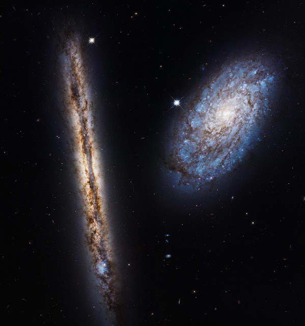 Interacting Galaxies NGC 4302 • NGC 4298