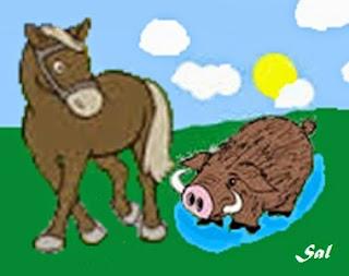 Il cavallo e il cinghiale (Fedro)