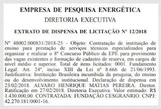 Edital concurso EPE 2018