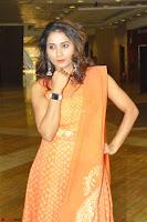Bhanu Priya in Oreange Ethnic Anarkali Dress 12.JPG
