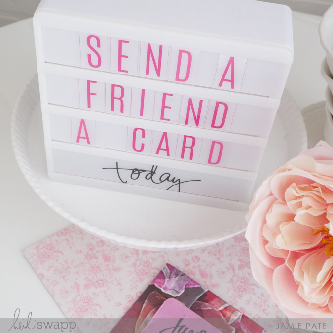 National Send a Friend a Card Day by Jamie Pate | @jamiepate for @heidiswapp