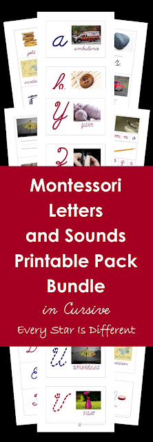 Cursive Montessori Letters and Sounds Bundle