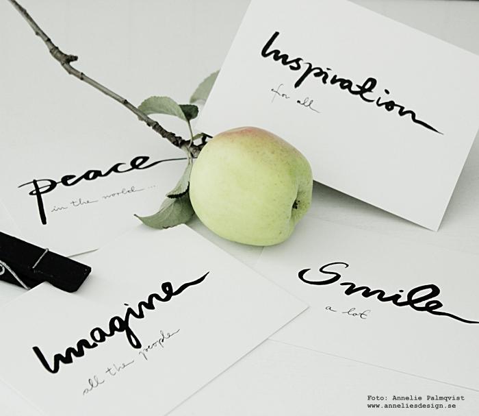 vykort med text, svartvitt, svartvit, svartvita, annelies design träklämmor, clips, svarta, kort, inredning,
