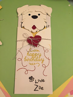 MidnightCrafting birthday gift card holder silhouette cameo terrier schnauzer dog