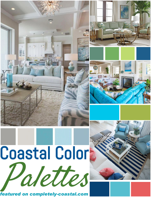 Most Popular & Classic Coastal Color Palettes Interior Design