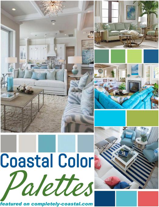 Classic Coastal Beach Color Palettes Living Room Decor Ideas Coastal Decor Ideas Interior Design Diy Shopping