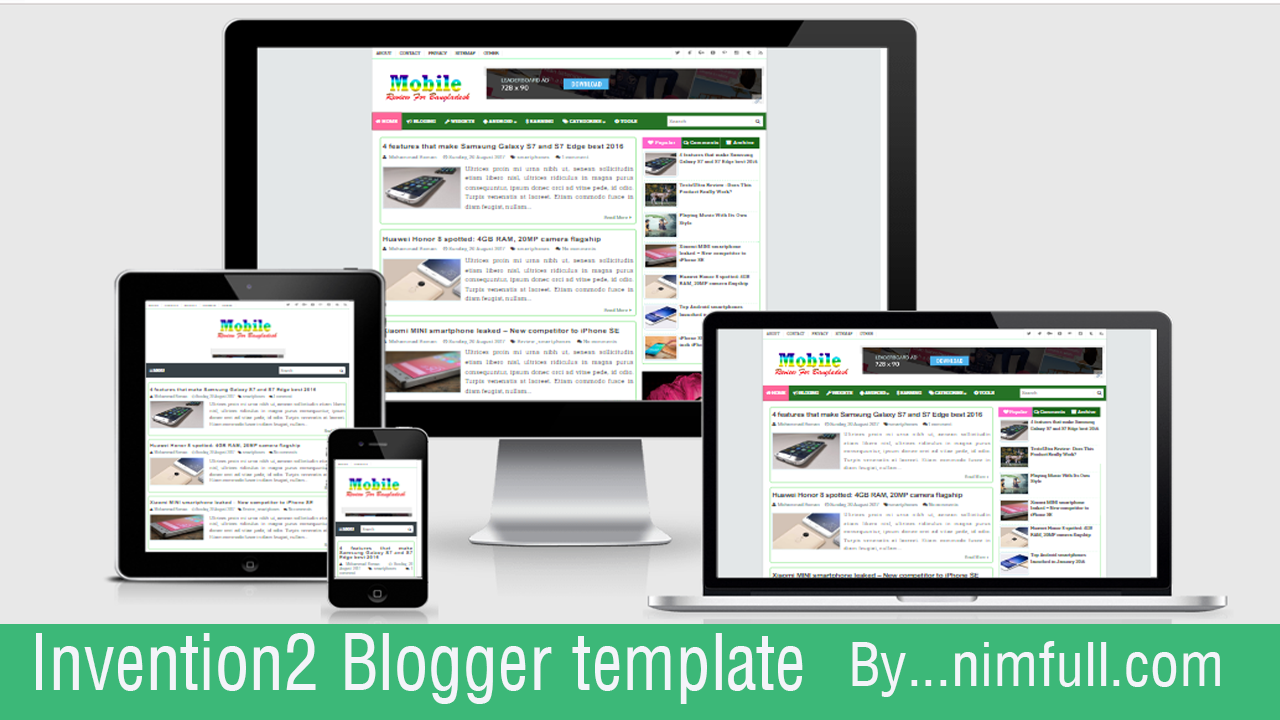 Invention2 Resposive SEO Blogger Template Free Download - Nimfull ...