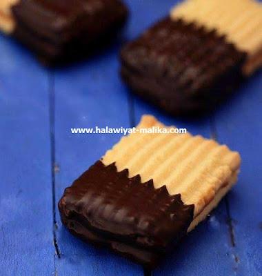 صابلي بالكراميل والشوكولاتة