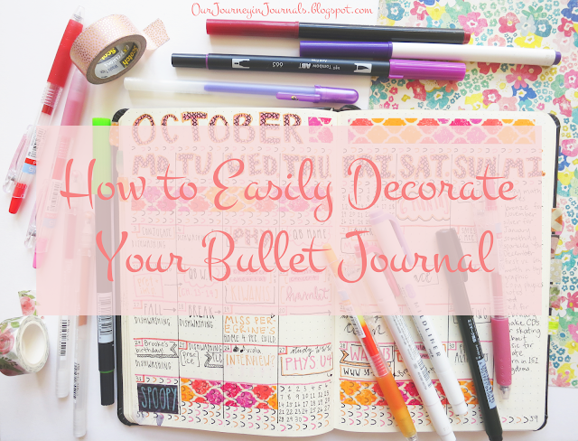 how to easily decorate your bullet journal