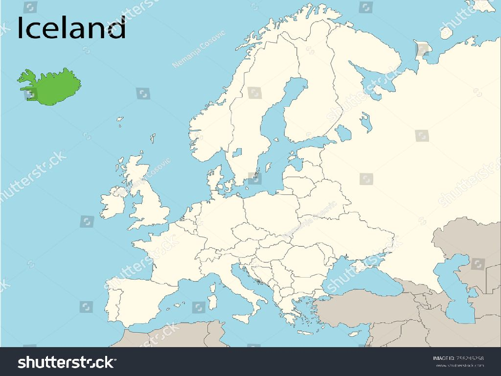 iceland in europe map