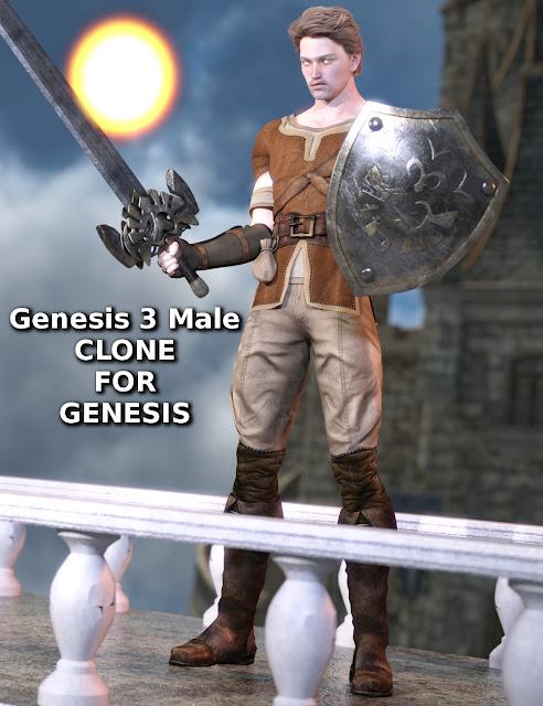 Genesis 3 Male Clone for Genesis
