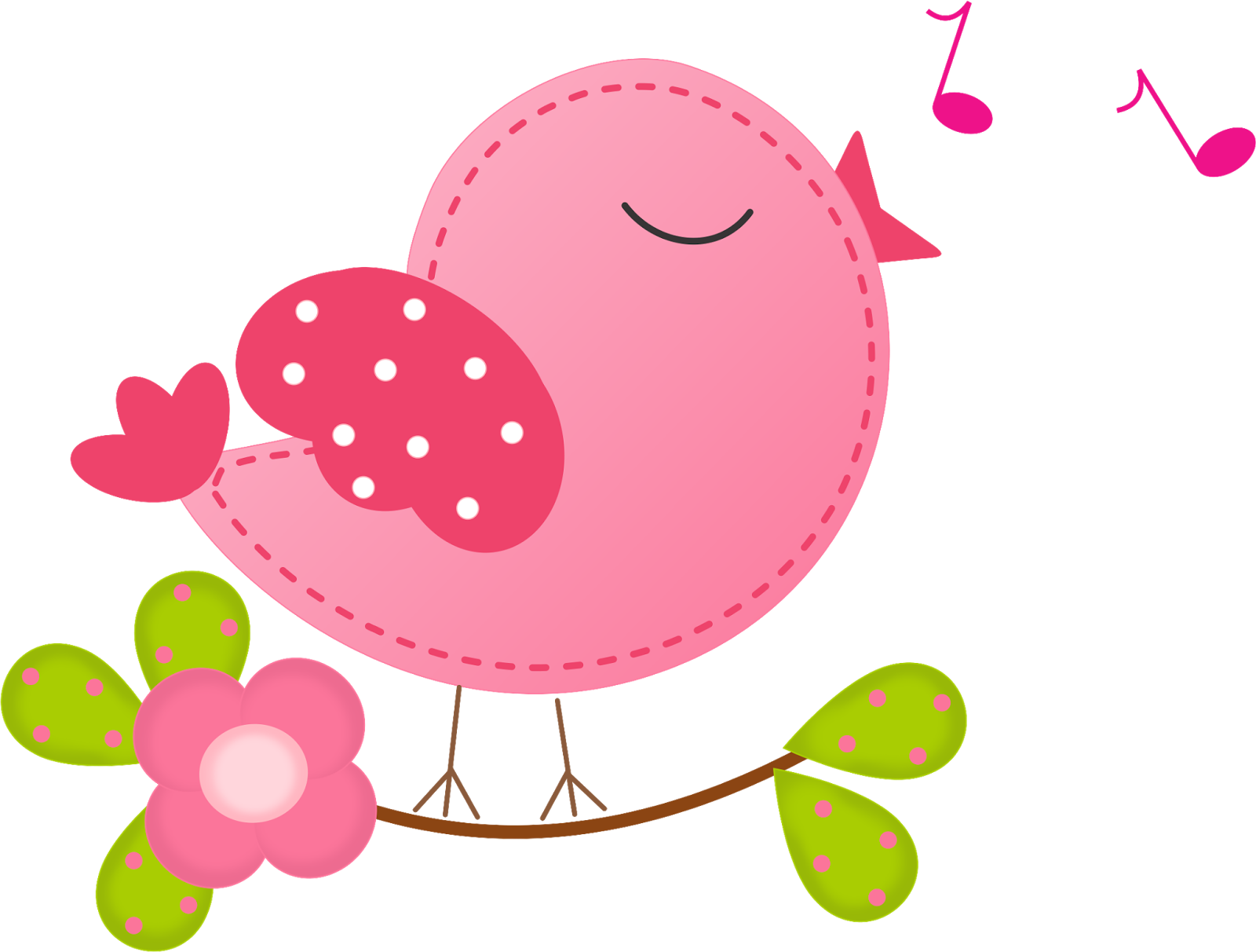 Bello clipart de pajaritos cantando oh my 15 a os for 3 little birds salon