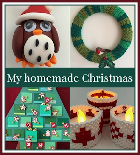 A selection of my homemade Christmas decorations