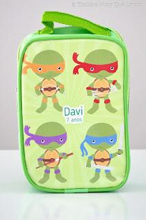 lembrancinha tartaruga ninja, festa tartarura ninja, mochilinha, mochilinha tartaruga ninja personalizada necessaire, necessaire infantil,