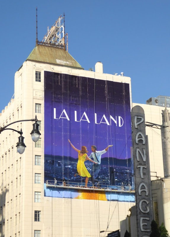 Giant La La Land film hand-painted billboard