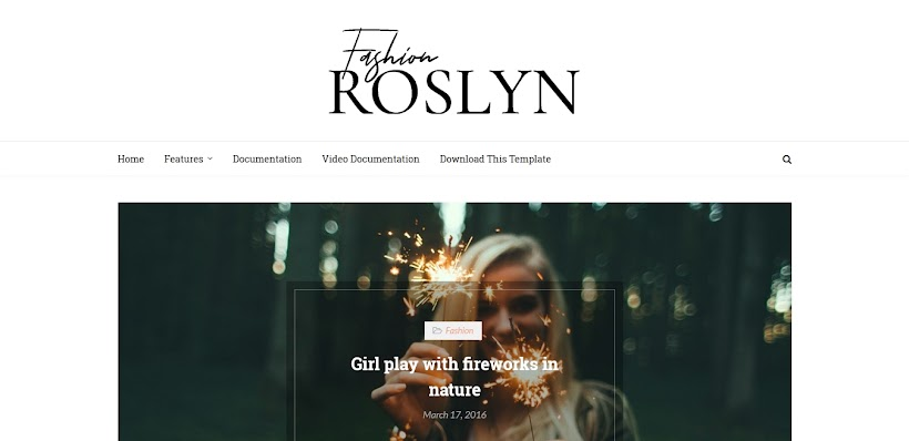 Roslyn Free Blogger Template