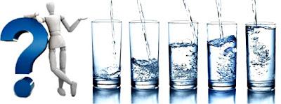 Vasos de agua a tomar al día