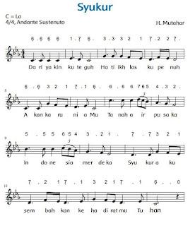 Lirik dan Lagu Syukur Karya H Mutahar