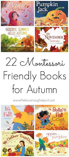 22 Montessori friendly children's books for Autumn