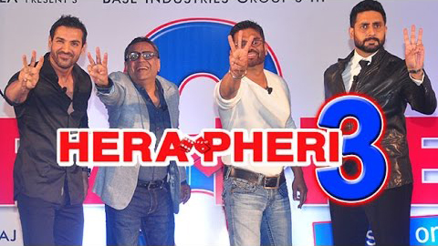 full cast and crew of bollywood movie Hera Pheri 3! wiki, story, poster, trailer ft Sunil Shetty, John Abraham, Abhishek Bachchan, Paresh Rawal