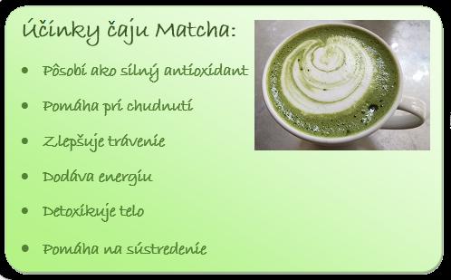 Účinky čaju Matcha