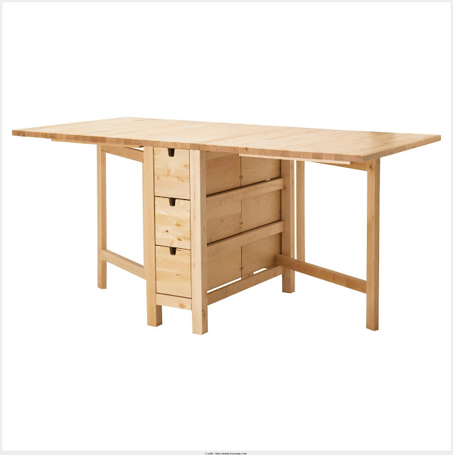 Beautiful Origami Drop Leaf Dining Table Image