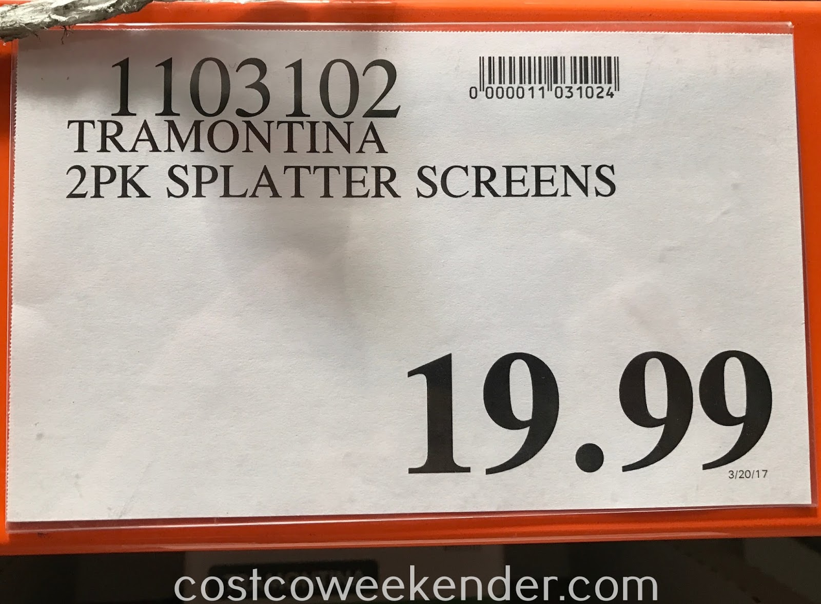 Deal for a 2 pack of Tramontina ProLine Splatter Screens at Costco