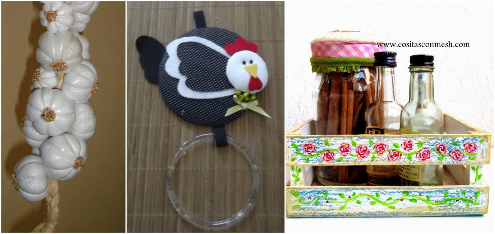 Adornos bonitos para decorar la cocina con material - Material de cocina ...