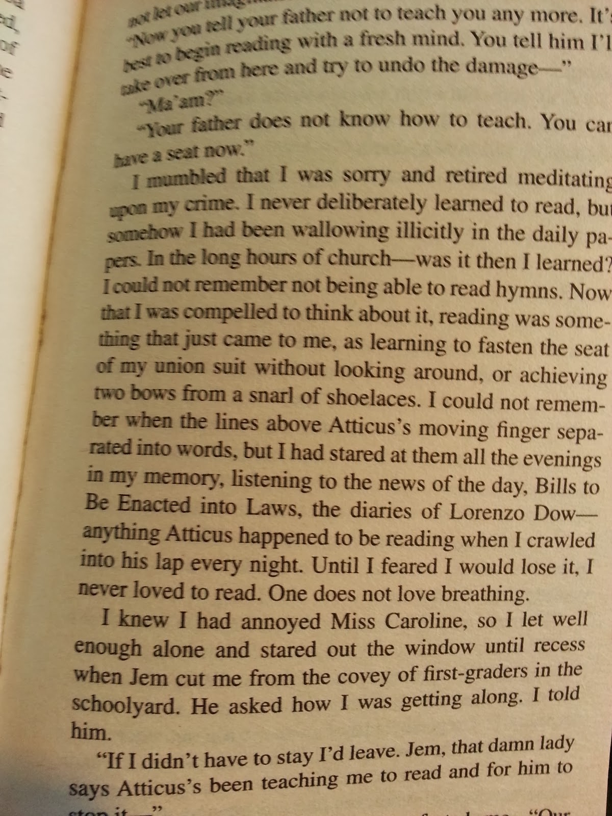 Quotes From A Walk To Remember Book With Page Numbers: Fourth Generation Teacher: On Rereading TO KILL A