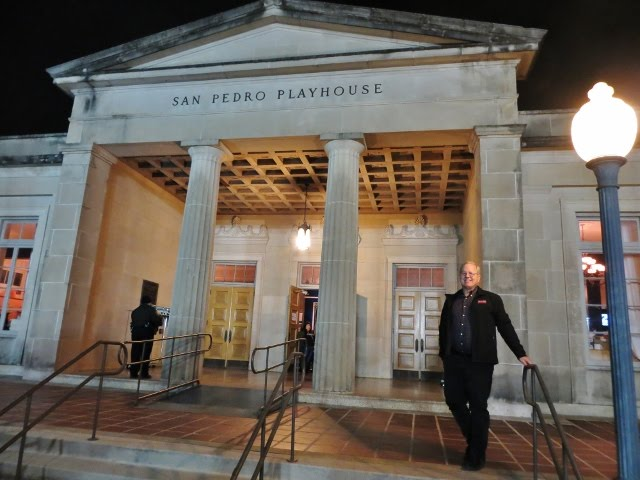 Bob in front of San Pedro Playhouse, San Antonio, TX, November 9, 2018