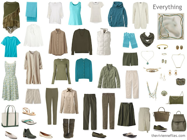 24 piece capsule wardrobe for Autumn or Spring