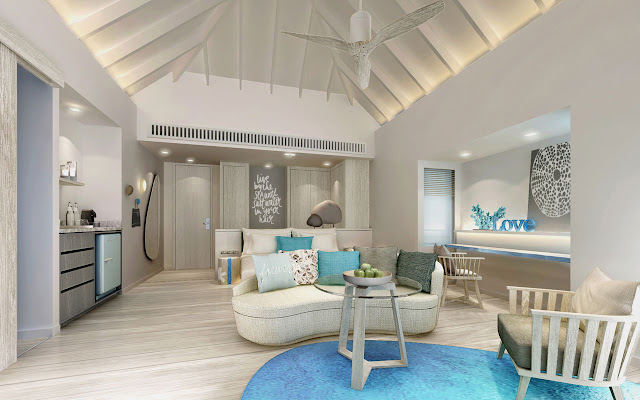 LUX* South Ari Atoll, Water Villa, Interior, (c) LUX* Resorts & Hotels