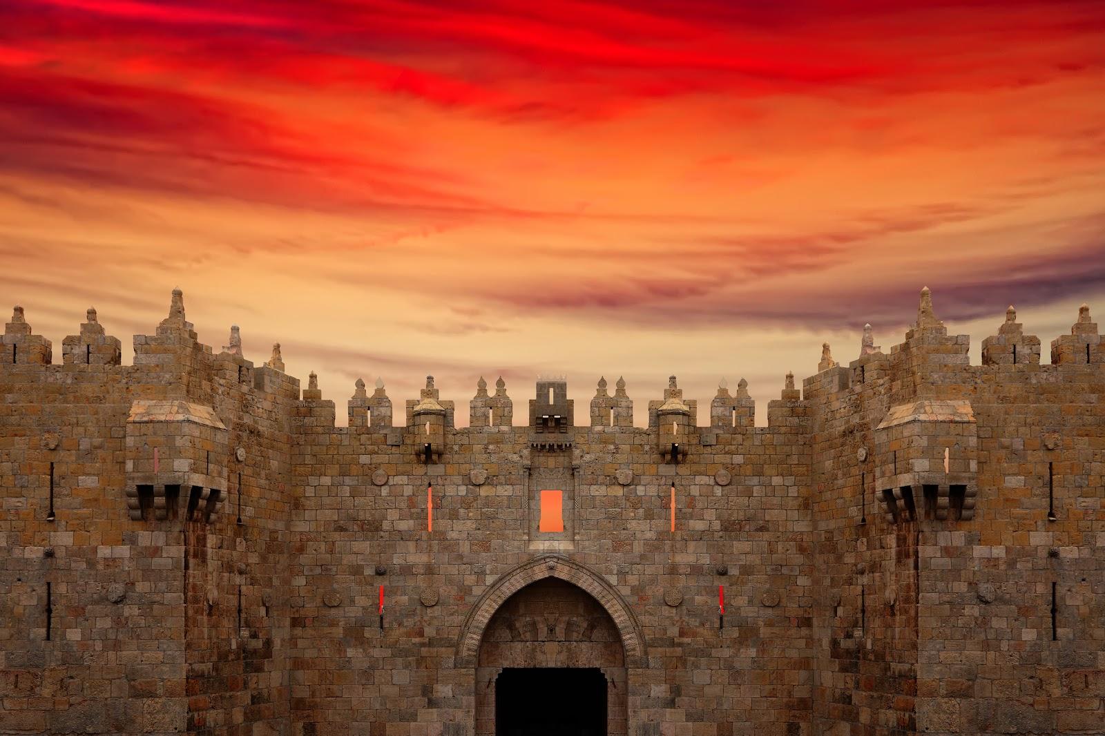 Sunset over Jerusalem, Israel