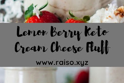 Lemon Berry Keto Cream Cheese Fluff