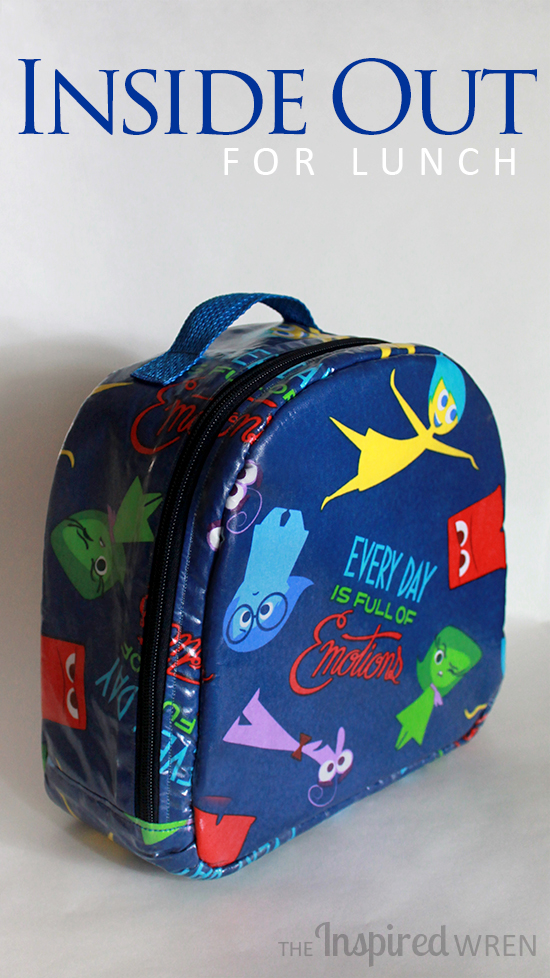 "Love this! | Lunch Box/Bag sewn in Laminated ""Inside Out"" Cotton 