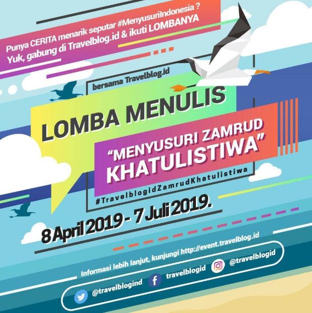 [Gratis] Lomba Menulis Artikel Nasional 2019 Bersama Travelblog